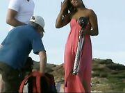 Séance photo nue avec une fille chaude