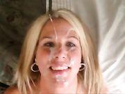 Ma chère femme reçoit une énorme éjaculation de sperme sur son visage