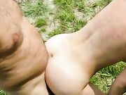 Sexe en plein air avec ma femme